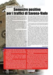 Semestre positivo per i traffici di Savona-Vado - Porto & diporto