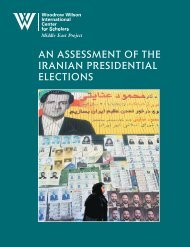 An assessment of the Iranian presidential elections Haleh Esfandiari ...