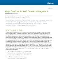 Magic Quadrant for Web Content Management - Bitpipe