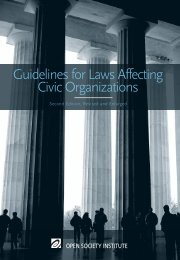 Guidelines for Laws Affecting Civic Organizations - The International ...