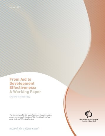 From Aid to Development Effectiveness: A Working Paper - SDC Aid ...