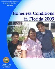 Annual Report on Homeless Conditions in Florida (June 2009)
