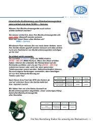 Kalibrierungsservice - WIBU | Service und Wartung