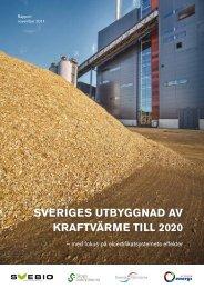 SVERIGES UTBYGGNAD AV KRAFTVäRME TILL 2020 - Svensk ...