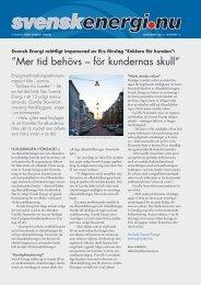 """Mer tid behövs – för kundernas skull"""" - Svensk energi"""