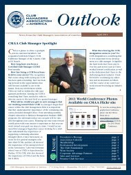 Outlook - Club Managers Association of America