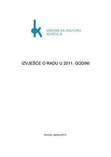 IZVJEŠĆE O RADU U 2011. GODINI - Korčula