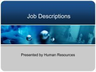 How to Write Job Descriptions - Colorado State University-Pueblo