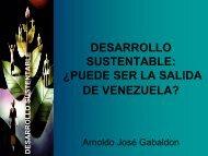 Desarrollo Sustentable: Â¿puede ser la salida de Venezuela?, Ing ...