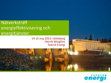 Energieffektiviseringsdirektivet - Svensk energi