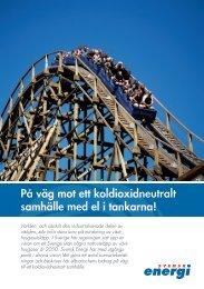 På väg mot ett koldioxidneutralt samhälle med el i ... - Svensk energi