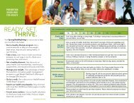 Prevention Guidelines for Adults - Wellness