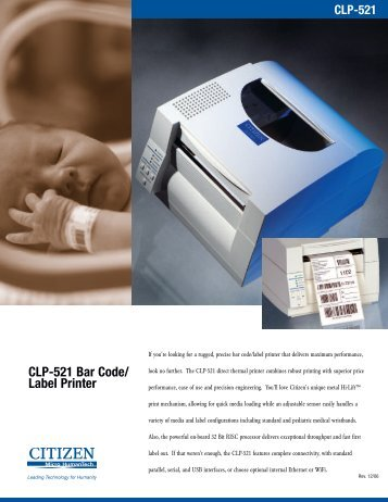 CLP-521 Bar Code/ Label Printer - Digi-Trax