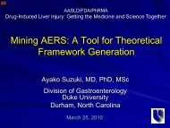 An AERS Database Evaluation of the Influence of Co ... - AASLD