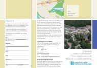 Flyer mit Anfahrtsbeschreibung - Pfeiffersche Stiftungen Magdeburg