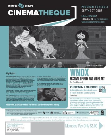 FESTIVAL OF FILM AND VIDEO ART - Winnipeg Film Group