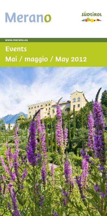 Events Mai / maggio / May 2012