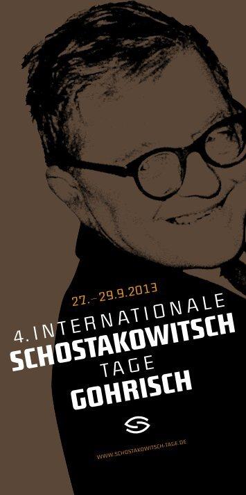 Festival-Programm als PDF - Schostakowitsch Tage