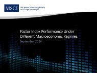 MSCI September 2014 Index Performance in Changing Economic Environments ...