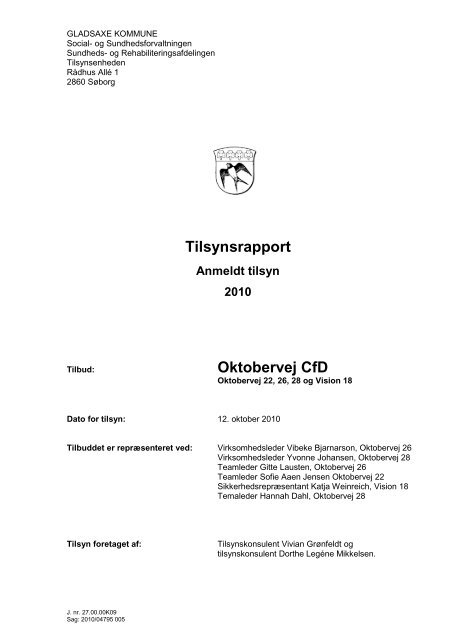 Tilsynsrapport Oktobervej CfD - Center for døve