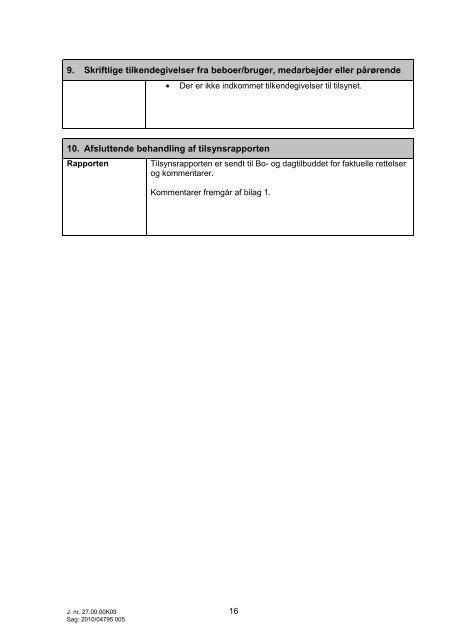Tilsynsrapport Oktobervej CfD - Center for døve