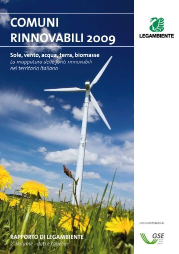 COmuNI RINNOvAbILI 2009 - Legambiente