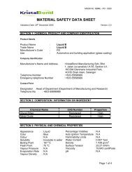 MATERIAL SAFETY DATA SHEET - SandS International