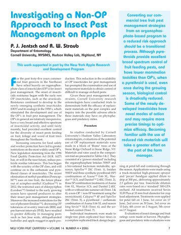 Investigating a Non-OP Approach to Insect Pest Management on ...