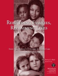 Rebuilding Families, Reclaiming Lives - Faces and Voices of ...