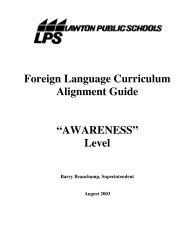 Foreign Language Curriculum Alignment Guide - Lawton Public ...
