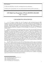 draft MYPOW (CFS activities for 2014-15) - CSM