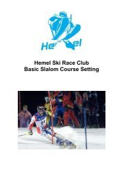 Course Setting Rules - Hemel Ski Racing Club