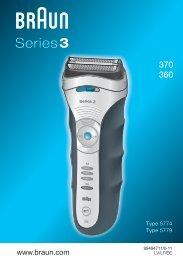BRAUN Shaver 370 Series 3.indd