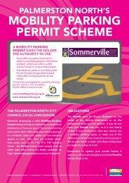 mobility parking permit scheme - Palmerston North City Council
