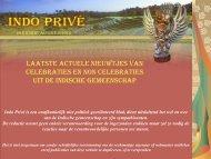 Klik hier voor 26e editie aug 2010 - Indo Privé