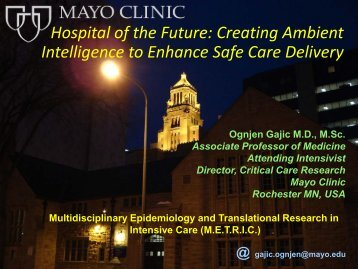 Multidisciplinary Epidemiology and Translational ... - RM Solutions