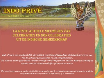 Klik hier voor 50e editie augustus 2012 - Indo Privé
