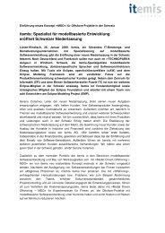 P04_Niederlassung Schweiz - itemis AG