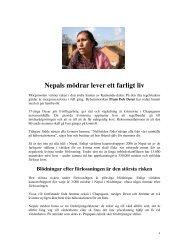 Nepals mödrar lever ett farligt liv - Helsingborgsdialogen