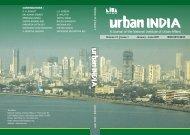 January - June 2011 - National Institute of Urban Affairs