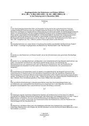 Angelegenheiten der Notarinnen und Notare (AVNot ... - Notarkammer