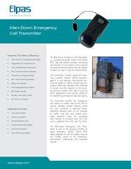 Man-Down Emergency Call Transmitter - Visonic Technologies