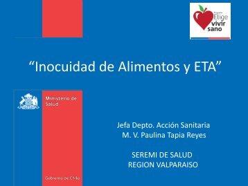 Inocuidad de Alimentos y ETA - SEREMI de Salud Región Valparaíso
