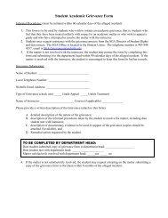 Student Academic Grievance Form