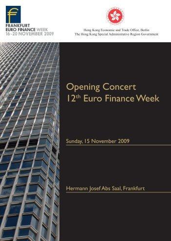 Programme Booklet - Euro Finance Week Opening Concert