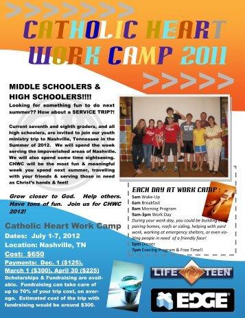 Catholic Heart work caMP 2011 - Saint Cecilia Life Teen