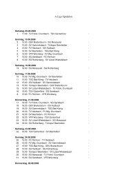 A Liga Spielplan - SG Mossautal