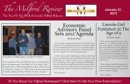 Economic Advisory Panel Sets 2012 Agenda - Milford LIVE!