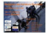Réception des fondeurs Romands Samedi 8 avril ... - Ski Romand (ch)