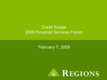 Credit Suisse 2008 Financial Services Forum ... - Rational Investing